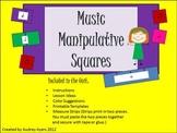 Music Manipulative Squares -Elementary Center Activity wit