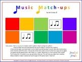 Music Match-ups - Rhythm I (Keetman's Building Bricks) - Class Game or Center