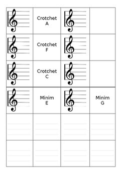 Music Matching Cards Activity and Game
