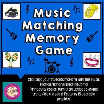 Music Matching Memory Game