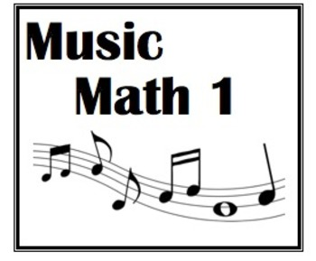 Music Math 1: Whole, Half and Quarter Notes