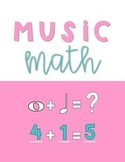 Music Math-1 Print and Go Cross-Curricular Worksheets: Add, Subtract Fractions