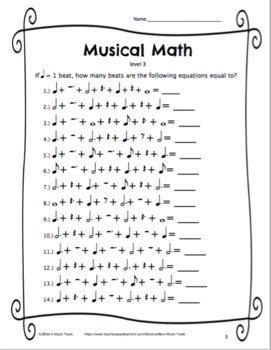 Music Math Bundle