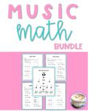 Music Math BUNDLE Print & Go Cross-Curricular Worksheets