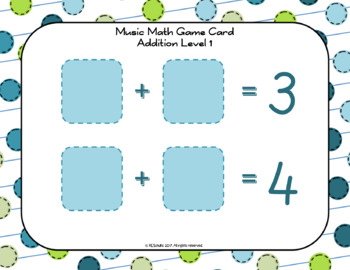 Music Math Counting Game - Sample