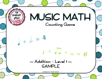 Music Math Counting Game - Level 1 - Sample