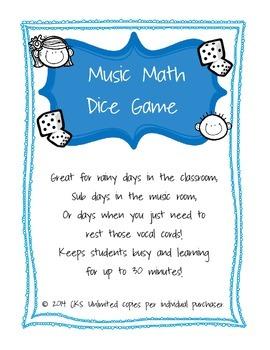 Music Math Dice Game!