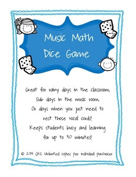 Music Math Dice Game!