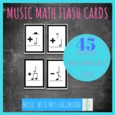 Music Math Flash Cards - 45 Piece Set