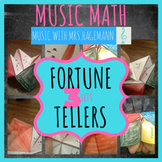 Music Math Fortune Tellers x3