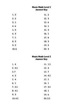 Music Math Levels 1-2