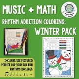 Winter Music Rhythm Math Coloring Pages