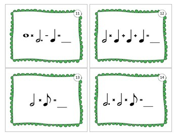 Music Math Task Cards