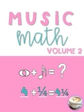 Music Math-2 Print & Go Cross-Curricular Worksheet Basic Operations w/ Fractions