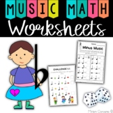 Music Math Worksheets