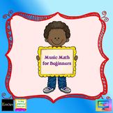 Music Math beginner levels Whole Half and Quarter note/res