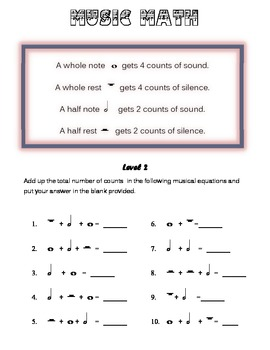 Music Math levels 1-9 combined