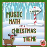 Christmas Music Activities: 24 Christmas Music Math Worksheets