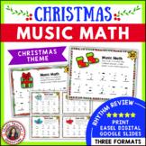 Christmas Music Activities: 24 Christmas Music Math Worksheets