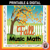 Fall Music Activities: 24 Music Math Sheetswith a FALL/AUTUMN Theme