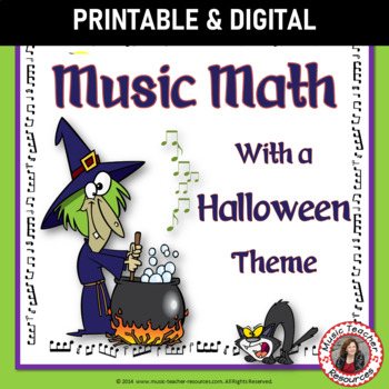 Halloween Music Activities: 24 Halloween Music Worksheets - Music Math Games