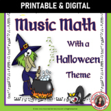 Music Math:  24 Halloween Music Math Worksheets