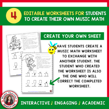SPRING Music Worksheets: Music Math - Music Theory Activities