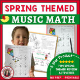 SPRING Music Activities: Music Math - Music Theory Activities