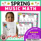 SPRING Music Activities: Music Math - Music Theory Activities
