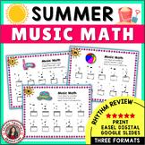 Summer Music Worksheets: 24 Music Math Worksheets