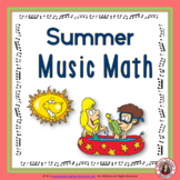 Summer Music Worksheets: 24 Music Math Worksheets
