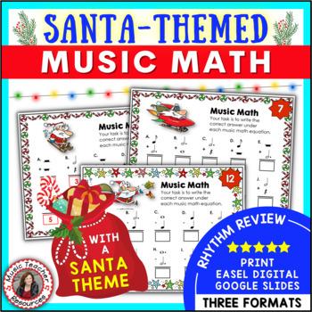 Christmas Music Activities: 24 Christmas Music Worksheets - Music Math