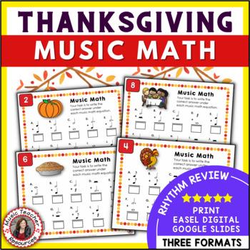 Music Math Worksheets: 25 Thanksgiving Music Activities