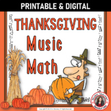 Thanksgiving Music Activities: 25 Music Math Worksheets