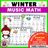 Music Math: Winter Music Activities: 24 Winter Music Worksheets