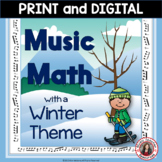Winter Music Worksheets: 24 Winter Music Math Pages