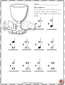 Music Math with an EASTER Religious Theme