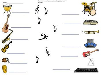 Music Mayhem Identify sounds and names of instruments