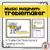 Music Mayhem: Treblemaker - A Treble Clef Note Name/Spelling Game