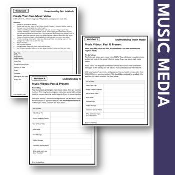 Music Media Lesson Plan Grades 4-6 - Aligned to Common Core