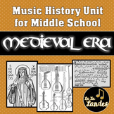 Medieval Era History Unit for Middle School Music Class