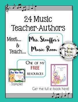 Music Meet and Teach Free Ebook - Mrs Stouffer's Music Room