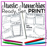#funinthesun Music Memories {EDITABLE Ready Set Print!}