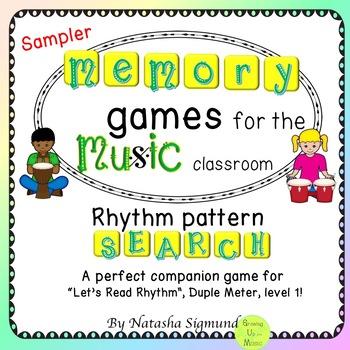 Music Memory Games: Rhythm Pattern Search Sampler