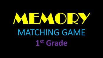 Music Memory Matching Game - Grade 1