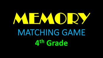 Music Memory Matching Game - Grade 4