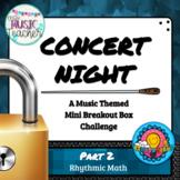 Music Mini Breakout Escape Room Single Task Restaurant Menu Rhythmic Math