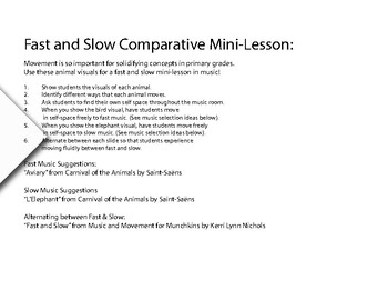 Music Mini-Lesson with Movement and Visuals