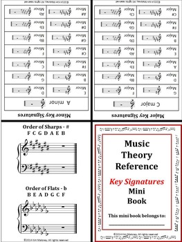 Music Mini Reference Book: KEY SIGNATURES