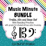 Music Minute BUNDLE - Treble, Alto, and Bass Clef Note Rea